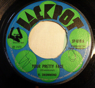 K Drummond Your Pretty Face / Jackpot 1973
