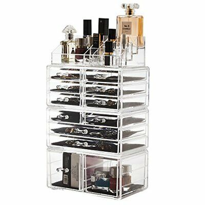 Large 12-Drawers Makeup Cosmetic Jewelry Organizer Storage Display Boxes Case