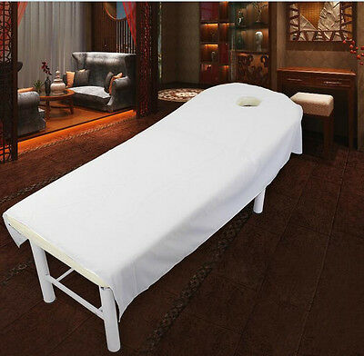 Comfort Fitted Bed Sheet Beauty Salon Spa Massage Table Coverlet White 4 Size
