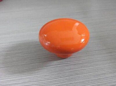 New Large Orange Round Ceramic Cabinet Door Knobs Cupboard Drawer Pull Handle