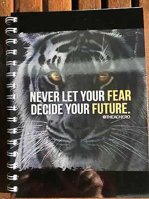 2018 diary tiger with future quote A5