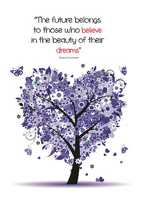 2019 diary purple tree with future quote A5