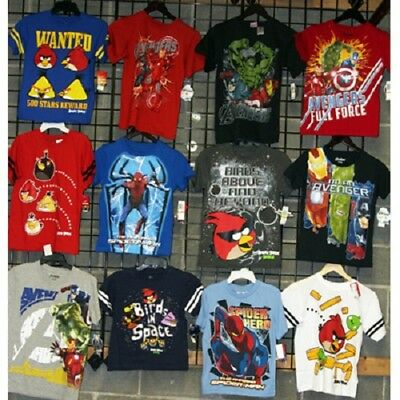 Boys Licensed sizes 8-16 screen printed tees 24pcs. [B86LICTEE]