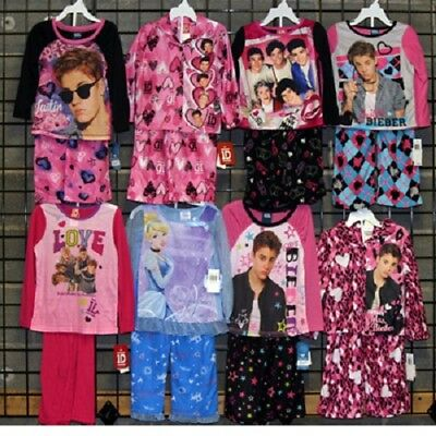 Licensed Girls 4-14 two piece fall pajamas assortment 48pcs. [GFLIC414PJ]