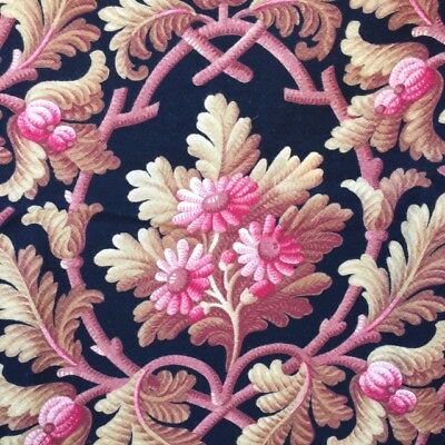 Stunning Antique FRENCH FLORAL CURTAIN PANEL 1875 Victorian Era UNUSED !!!