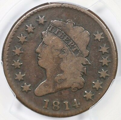 1814 S-294 PCGS VG 08 Crosslet 4 Classic Head Large Cent Coin 1c