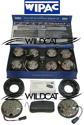 Land Rover Defender Led Wipac Deluxe Smoked Upgrade Lamp Light Kit S7005Led