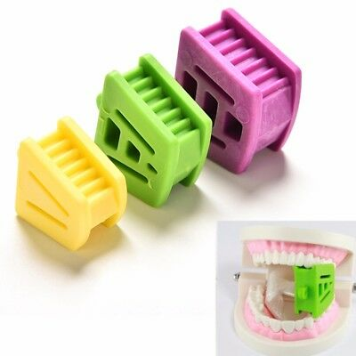 3pcs Dental Silicone Mouth Bite Block Rubber Mouth Opener Retractor Prop S M L