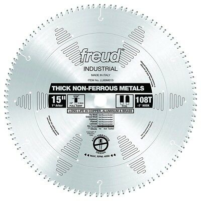 "Freud Tools LU89M015 15"" Thick Non-Ferrous Metal Saw Blade"