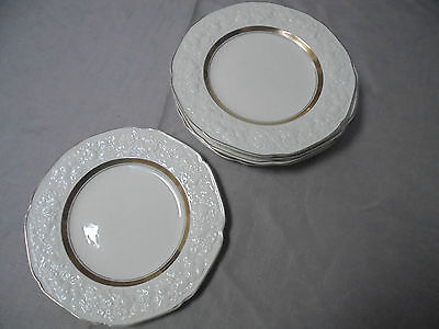 CROWN DUCAL FLORENTINE. 6 Small Entree/ Dinner Plates 22.5 cm diameter