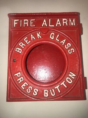 Cast Iron 1930's Fire Alarm - RED