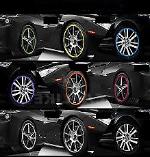 BLACK Alloy Wheel Protector Rim Trim Strips RIMBLADES FLEX fits FIAT