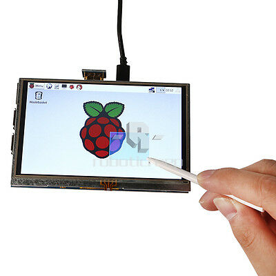 """DE Lager 5"""" Inch 800x480 HDMI Touch LCD Display for Raspberry Pi 3 Model B+"""