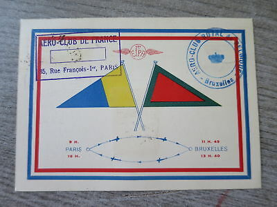 FRANCE PA n° 6 s Carte oblitération EXPOSITION INTERNATIONALE AERIENNE  °/bn310