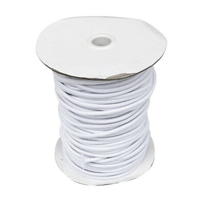 4mm 1m White Elastic Bungee Rope Shock Cord Tie Down - Boat/Trailer Covers