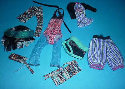 Selection of clothes from Assorted Monster High Dolls for OOAK/Play