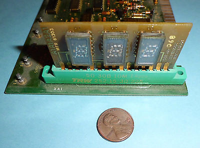 Early 1980s Assembled PCB with 3 Digits Display-MFR 61303