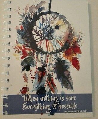 2018 diary dreamcatcher blue with quote A5