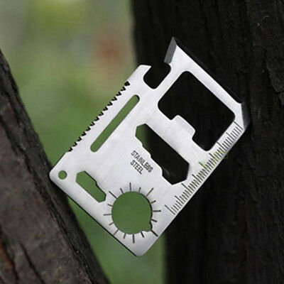 Multi-function Card Living Survival Hiking 11in1 Opener Bottle Camping Credit