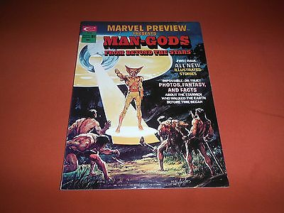 Marvel Preview #1 Man-Gods Comic Magazine *NM/Unread* Adams Cover (1975, Marvel)