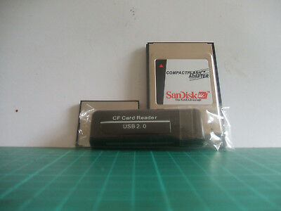 PCMCIA CF Card Reader Adapter + 8gb Sandisk CF Card - To Fit Mercedes (UK Stock)