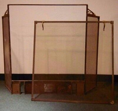 Antique Large Fireplace Screen Tools Andirons Over 100 Yrs Old Very Large
