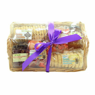 St Kew Willow Basket Food Gift Hamper - Ideal Birthday or Christmas Gift