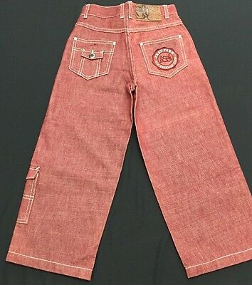 Phat Farm Boys Jeans Size 5 Red Baggy New Five Pockets  C46