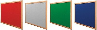 FELT WOODEN NOTICE PIN BOARD 900 x 600 1200 x 900 mm 48 HR FREE DELIVERY