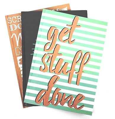 A5 Notebook And Pen Set Spiral Bound Hardback Ruled Lined School Gift Stationery