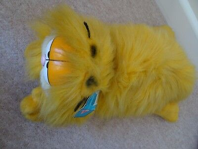 vintage garfield blown dry soft toy 1990 long hair
