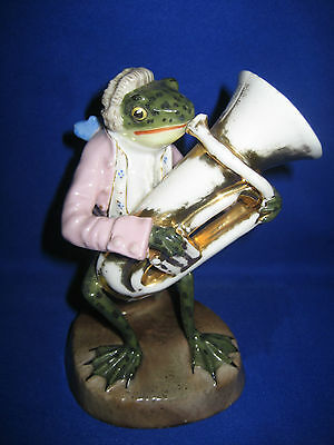 Sitzendorf  Porcelain Figure  Frog Band Frog With Tuba