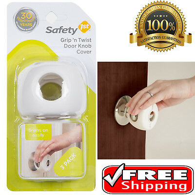 Baby Safety 1st Grip N Twist Door Knob Covers 3 Pack Toddler Kids Guard New
