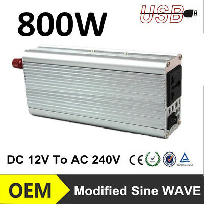 Modified Sine Wave Power Inverter 3000W (60000W Max) 12VDC-240V AC For Home Car