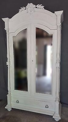 Stunning French Antique 19th century painted wardrobe/armoire