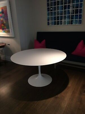 """Saarinen 60"""" Round DWR Dining Table from  White Laminate top and base"""