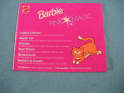 405A Catalogue Fold Barbie 1991 Mattel 20 pages Pink Magic Doll