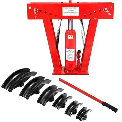 Goplus 12 Ton Heavy Duty Hydraulic Tube Bender 180 Degree Tubing Metal Steel W/