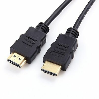 Black HDMI Cord Cable 6ft 1.8M For BLURAY 3D DVD PS3 HDTV XBOX LCD HD TV 1080P