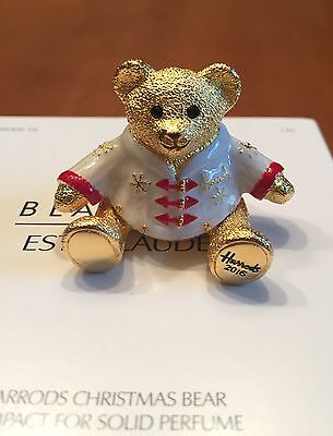 Estee Lauder Harrods 2016 Christmas Bear Solid Perfume Compact - Sold Out!