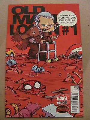 Old Man Logan #1 Marvel Comics 2015 Series Skottie Young Variant 9.6 Near Mint+