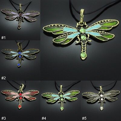Dragonfly Pendant Necklace ladies womens girls gift present jewellery UK SELLER