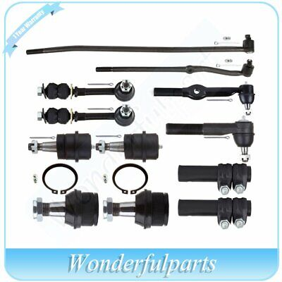 10Pcs Suspenion Kit Tie Rod Ball Joint Sway Bar for  Dodge Ram 1500 2500 4WD