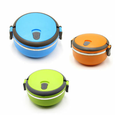 1 Layer Stainless Steel Thermal Insulated Lunch Box Bento Food Container Round