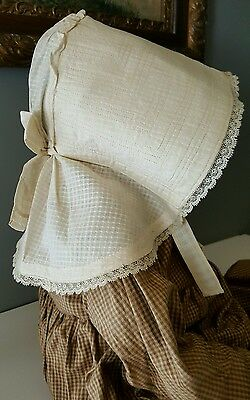 RARE 1890's Baby Child Sun Bonnet Strasburg PA Original Homespun Quakers Doll