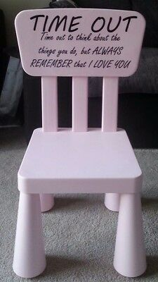 Time Out Chair Naughty Step Bad Behavior colour  Pink blue green