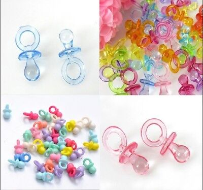 Baby Shower Table Confetti New Baby Dummy Pacifier Tableware Pink Blue Girl Boy