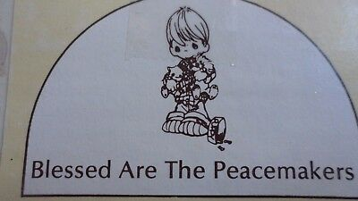 """Precious Moments - """"blessed Are The Peacemakers"""" - Retired - E3107 - Nrfb"""
