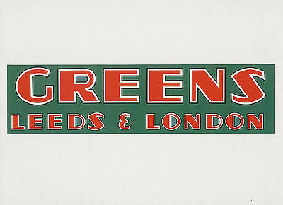 Greens Vintage Mower Repro Decal
