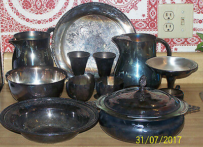 Lot of 13 Pieces of Vintage Silverplate - Arts, Crafts, Scrap, Resale
